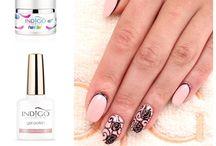 Flowers Indigo Nails