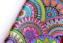 mandala szerű rajzok