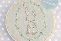 Embroidery pattern blanket