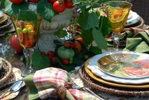 Centerpieces for Pantries / Instead of a floral arrangement in the center of your special dinner, use a whole fruit or vegetable edible arrangement. Then share the leftover produce with a local food pantry. Your food can bless two tables.