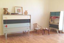 En visite chez...Mélissa, créatrice des meubles Mirguette / Une maison datée du début du 20eme siècle, une belle histoire et une seconde vie grâce à Mélissa.  Mélange de décoration entre brocante, récup, créations et vintage.  De belles idées à découvrir d'urgence