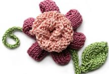 Knitted Flowers/Foliage Patterns / knitted flowers, foliage, and leaves patterns