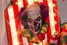Creepy Carnival Halloween Decorating Ideas / Come one, come all to the scariest show during Halloween! Become the ringmaster to your own freak show with circus inspiration for a DIY mantel marquee, scary entrance & of course--clowns! Click through our carn-EVIL ideas for a night of thrills & shrills under the Big Top! / by Party City