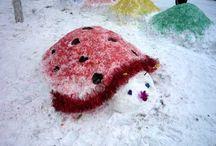 ZIMOWE RZEŹBY / Rzeźby ze śniegu i lodu