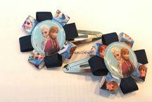 frozen gemaakt door www.madeattheharbour.nl / Handgemaakte haar accesoires
