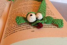 *könyvjelző*bookmark*frog* / crochet.,
