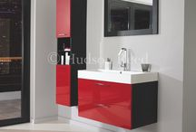 Red Bathroom Ideas  / We love a splash of colour in a bathroom, so here are a few of our favourite pieces to get the look. The great thing about a colour splash is you can add one piece, then add to it.