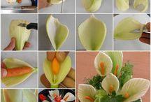 Цветы из овощей.