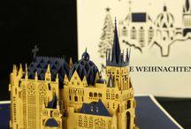 Pop-Up Karten Aachen Weihnachten / Pop-Up Karten - Innovative Weihnachtsgrüße aus Aachen #Weihnachtskarte #AachnerDom #Aachen #popupkarte #colognecards #3DKarte #popupkarten