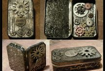 Altered Tins / awesome altered mint tins - candy tins, altoid tins, mint tins etc...