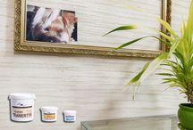 Tynki dekoracyjne / Na tej tablicy prezentowane będą materiały i produkty które można nabyć w naszym sklepie.