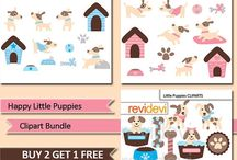 Pet Clipart and Printable (for craft, learning materials, etc) / Pet Clipart and Printable (for craft, learning materials, etc)