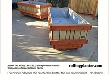 MP LARGE Pedestal Rolling Planters / ENGINEERED TO HOLD LOTS OF SOIL AND ROLL WITH EASE!!!  We build our planters up to 4' across.   And we make them that they assemble in seconds, not minutes hours or days!!!  Buy a planter that last forever.   Buy a planter that you can really do some serious growing.  Visit us at: www.RollingPlanter.com ; www.facebook.com/rollingplanter ; www.pinterest.com/rollingplanter
