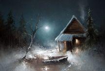 vánoční obrazky výtvarka