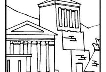Ancient Greece coloring book / Ancient Greece coloring pages