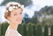 -Collection 2015- / Accessoires de tête délicats et bohème pour mariée, couronnes de fleurs et autres accessoires fleuris