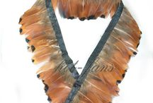 Pheasant Feather Fringe / Pheasant Plumage Feather Fringe Trims 2 yards Perfect trimming costumes 001