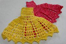 vestido crochê para aplicação