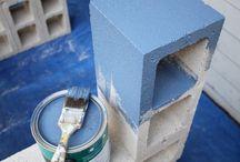 painting concrete blocks