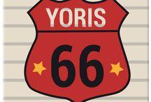 Route 66 / De la décoration autour du thème des voitures et de la mythique route 66.