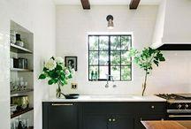 Home / Black, White, Gold Kitchen