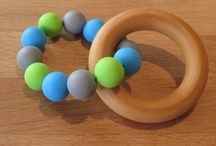 Wooden & Silicone Teething Rings /  Wooden Silicone Teething Ring    A beautiful natural & colourful teether that your baby will love!  The wooden ring is made from natural untreated hardwood and has been sealed with my own bees wax.  The ring of beads are made from 100% food grade silicone. They are BPA and FDA free making them a great option for your baby as they have no nasties.  These teething rings should be used under constant adult supervision.