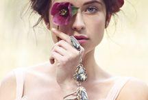 Beauty Portrait mit Blumen