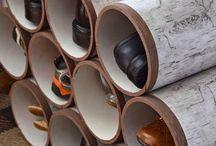 Sapateira criativac canos de PVC