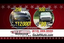 Our Ads   Jeff D'Ambrosio Auto Group / Videos & Picture about our sales events. Call us at: 484-593-5000 Website: http://www.jeffdambrosio.com/ Facebook: https://www.facebook.com/GoJeffAuto/ Twitter: https://twitter.com/dambrosiodtown Dealer Rater: http://www.dealerrater.com/dealer/Jeff-D-Ambrosio-Auto-Group-review-25766/