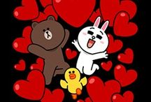 Line - Brown & Cony's Big Love Stickers