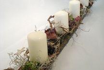 adventné vence+ vianočné dekorácie