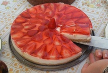 Tarta de queso y fresas / Golosolandia: Taras y postres caseros Recetas fáciles en: http://www.golosolandia.blogspot.com