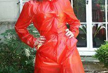 red raincoats