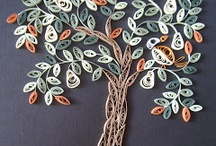 Quilling: trees