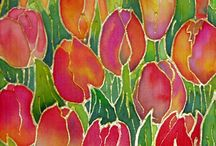 Silk painting/ guilts