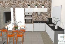 Consultoria de decoração 3D: Cozinha pequena com mesa de jantar!