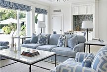 Blue & White Lounge Rooms