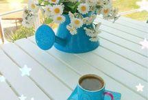 Spring flowers&coffee