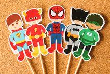Festas Heróis / Papelarias produzidas pela Tuty com o tema Heróis.