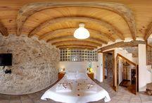 Casa Jaraiz 2016 / Casa rural ecológica de una habitación con una bañera de 2 X 2 mts