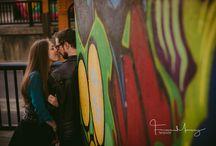 Graffitti Engagement Photography