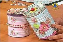 Beautiful cans!!!! / Decoupage! Diy!!