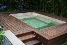 Hot Tub project / DIY, wood, concrete, garden