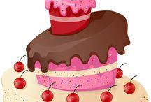 pasteles y dulces (dibujos)
