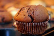 Sunde banan kakao muffins