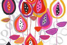 tejidos / drapery / tissus / rug / dessins, les couleurs, la fantaisie ...