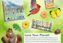Earth Day / Love your planet! Today is Earth Day, so celebrate Mother Nature with our nature and wildlife themed merchandise! We have tons of gorgeous items that are sure to inspire to craft green!