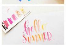 Brush Lettering & Calligraphy / hand lettering inspiration