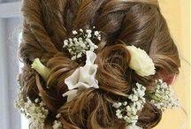 Floral hairdo