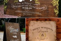 Wedding Signs / Inspiration for fabulous signs: ceremony, reception, beach wedding, estate or garden wedding, home wedding, indoors or outside! Love these design accents!